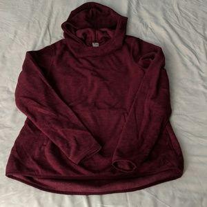 Cranberry Hooded Fleece Size M